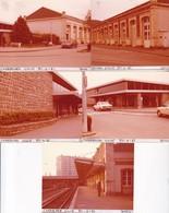 50 / CHERBOURG VILLE  /  5 PHOTO VERITABLE  GARE 1981 - Cherbourg