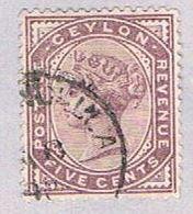 Ceylon 131 Used Queen Victoria 1886 (BP36035) - Ceylan (...-1947)