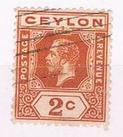 Ceylon 201 Used King Edward VII 1912 (C0281) - Ceylan (...-1947)