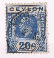 Ceylon 237 Used King Edward VII 1921 (C0290) - Ceylan (...-1947)