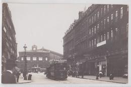LILLE - Carte-photo La Gare Et Rue Faidherbe 1911 Tramway Bock Tartarat La Lilloise - Lille