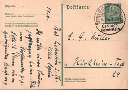 ! 1933 Ganzsache Aus Bad Liebenstein - Germany