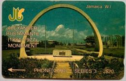 14JAMB Alexander Bustamante Monument J$20 - Jamaica