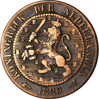 Monnaie, Pays-Bas, William III, 2-1/2 Cent, 1880, TB, Bronze, KM:108.1 - 1849-1890 : Willem III