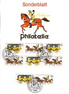 """BRD Sonderblatt Philatelie Mi.4x 1255/56 """"Int. Briefmarkenausstellung MOPHILA'85, Hamburg"""" ESSt 13.8.1985 BONN 1 - Unclassified"""