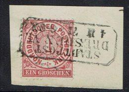 Deutschland Norddeutscher Bund , 1869,  MiNr 16, Gestempelt - Norddeutscher Postbezirk