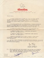 BD Lettre Courrier Tintin Journal Hebdomadaire Editions Du Lombard - Collections