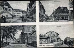 Cp Deidesheim Rheinland Pfalz, Bahnhof, Gleisseite, Marktplatz, Hauptstaße - Allemagne