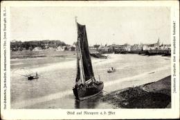 Cp Nieuport Nieuwpoort Westflandern, Boot Am Ufer, Ort - Belgique