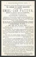 PATTYN Emiel - Jan Arts °1860 Handzame +1904 Hooglede E. Clotilde Capelle Doodsprentje Image Mortuaire  Funeral Card - Religion &  Esoterik