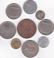 Pièces 15) Suite De 9 Pièces Différentes Plus Frais (50 Ctm ) Et Port 2 Timbres (100 Gr) Envoie Par Paquet - Mezclas - Monedas