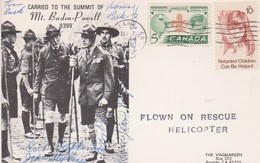 Canada 1974 Scouts Cover Flown On Rescue Helicopter,signed, - 1952-.... Règne D'Elizabeth II