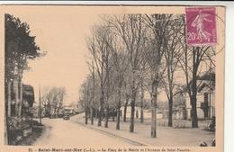 Rare Cpa St Marc La Place De La Mairie Et L'avenue De St Nazaire - Other Municipalities