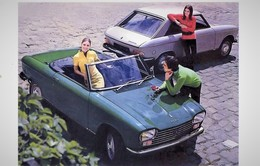 Peugeot 204 Cabriolet Et Coupé   -  Reproduction Du Publicité D'epoque 1970s  -  Carte Postale Modern - Turismo