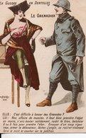 CPA Militaria Humoristique :  LE GRENADIER - Guerre 1914-18