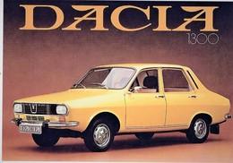 Dacia 1300   -  Reproduction Du Publicité D'epoque 1970s  -  Carte Postale Modern - PKW