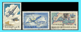 "GREECE-GRECE - HELLAS 1968: "" Hellenic Royal Air Force"" Compl. Set Used - Grecia"