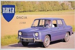 Dacia 1100   -  Reproduction Du Publicité D'epoque 1970s  -  Carte Postale Modern - PKW