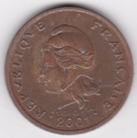 Polynésie Francaise . 100 Francs 2001, Cupro-nickel-aluminium - Polynésie Française