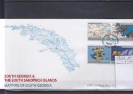 Süd Georgien & Süd Sandwich Michel Cat.No. FDC  433/436 Mapping - Falklandinseln