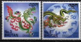 BHOUTAN  N°    * * Année Lunaire Dragon - Chinese New Year