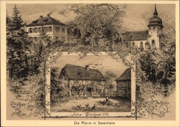 Artiste Cp Sessenheim Sesenheim Elsass Bas Rhin, Altes U. Neues Pfarrhaus, Dorfkirche - Autres Communes