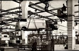 Cp Wolfsburg In Niedersachsen, VW Volkswagen Werk, Karosse Am Förderband, Rohkarossenband, VW Bus - Altri