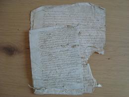 LOT DE 4 DOCUMENTS AVEC CACHETS DE GENERALITES DE PARIS 1789 - Matasellos Generales