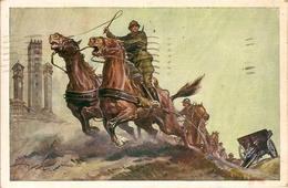 (C.IL).Scuola A.U.C. Di Artiglieria Da Campagna.Illustratore V.Pisani.F.to Piccolo.Viaggiata (149-a17) - Régiments