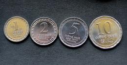 Sri Lanka 1+2+5+10 Rupees SET 4 COIN CURRENCY ASIA - Sri Lanka