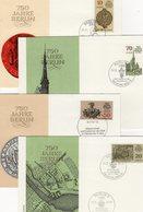 750 Jahre Berlin 1987 DDR 3023/6 4x FDC 8€ Sonderbriefe Architektur Hauptstadt Covers Set Architectur City Germany - Cartas
