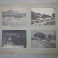 LOT 8 PHOTOS SUR CARTON SAINT ETIENNE GARE TRAIN TRAMWAY ORVILLERS SOREL GUERRE 1914 - Trains