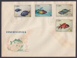 FDC PISCICULTURA. CUBA 1969. EDIFIL 1654/60 - FDC