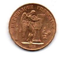 PIECE DE 20 FRANCS OR GENIE 1876 - Oro