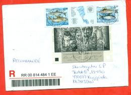 Estonia 2002. Registerted Envelope Passed The Mail. - Estonia