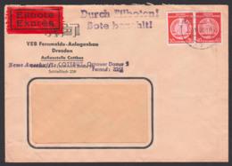 COTTBUS Dienst-Eil-Brief 20.8.58, Abs. VEB Fernmeldeanlagenbau RFT - Service