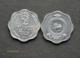Sri Lanka 2 Cents BU COIN ASIA CURRENCY Random Year - Sri Lanka