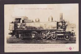 CPA Locomotive FLEURY Légende Rouge Série C Chemin De Fer Train Non Circulé - Trains