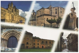 VILLAFRANCA DEL BIERZO MULTIVISTAS. TARJETA PREFRANQUEADA ESPAÑA. TARIFA A. ENTERO POSTAL. Postcard Paid Postage. - 1931-....