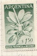 PIA - ARGENTINA -1956 :  Creazione Della Provincia Di Misiones - (Yv  566) - Nuovi