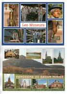 "MÉTIER . "" LES MINEURS "" & "" PANORAMA DU BASSIN MINIER "" . 2 CPM - Ref. N°25342 - - Industrie"