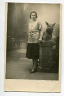 CHIENS CARTE PHOTO Chien Berger Allemand Et Sa Maitresses Photo D'Art Arvet à MONTBARD   D06 2020 - Dogs