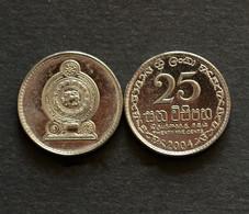 Sri Lanka 25 Cents BU COIN ASIA CURRENCY Random Year - Sri Lanka