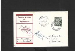 Service Aérien Par Hélicoptère Bruxelles Turnhout  Du 21/08/1950 - Airmail