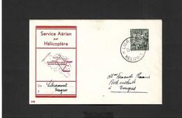 Service Aérien Par Hélicoptère Libramont Tongres  Du 21/08/1950 - Airmail