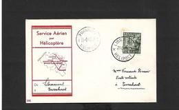 Service Aérien Par Hélicoptère Libramont Turnhout  Du 21/08/1950 - Airmail