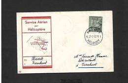 Service Aérien Par Hélicoptère Hasselt Turnhout  Du 21/08/1950 - Airmail