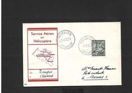 Service Aérien Par Hélicoptère Tongres Anvers  Du 21/08/1950 - Airmail