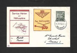 Service Aérien Par Hélicoptère Hasselt Anvers  Du 21/08/1950 - Airmail