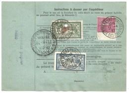 H345 - Bulletin Colis De STRASBOURG PRINCIPAL (EMDE) - 1927 - Timbres MERSON + SEMEUSE - Pour PARIS - - Alsace-Lorraine